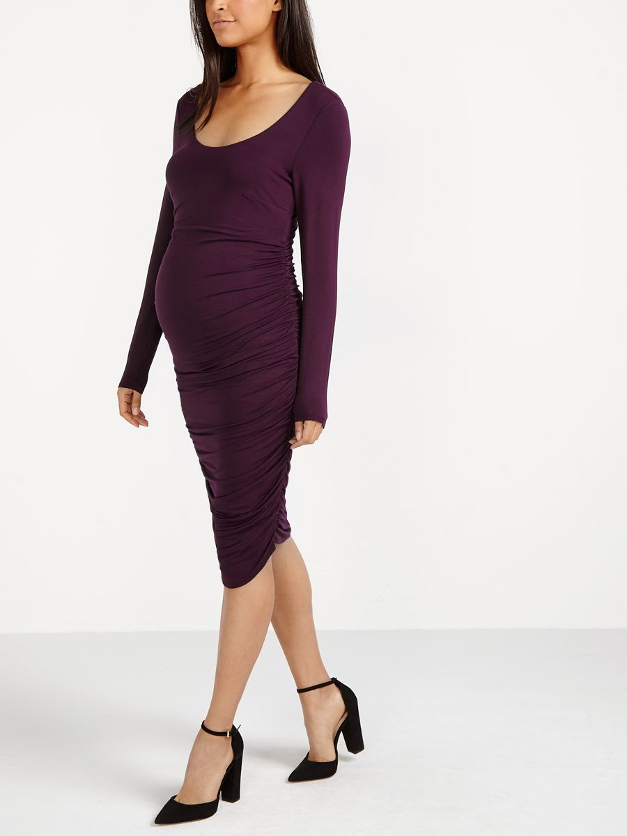9aa982accf427 Stork & Babe - Long Sleeve Maternity Dress | Thyme Maternity