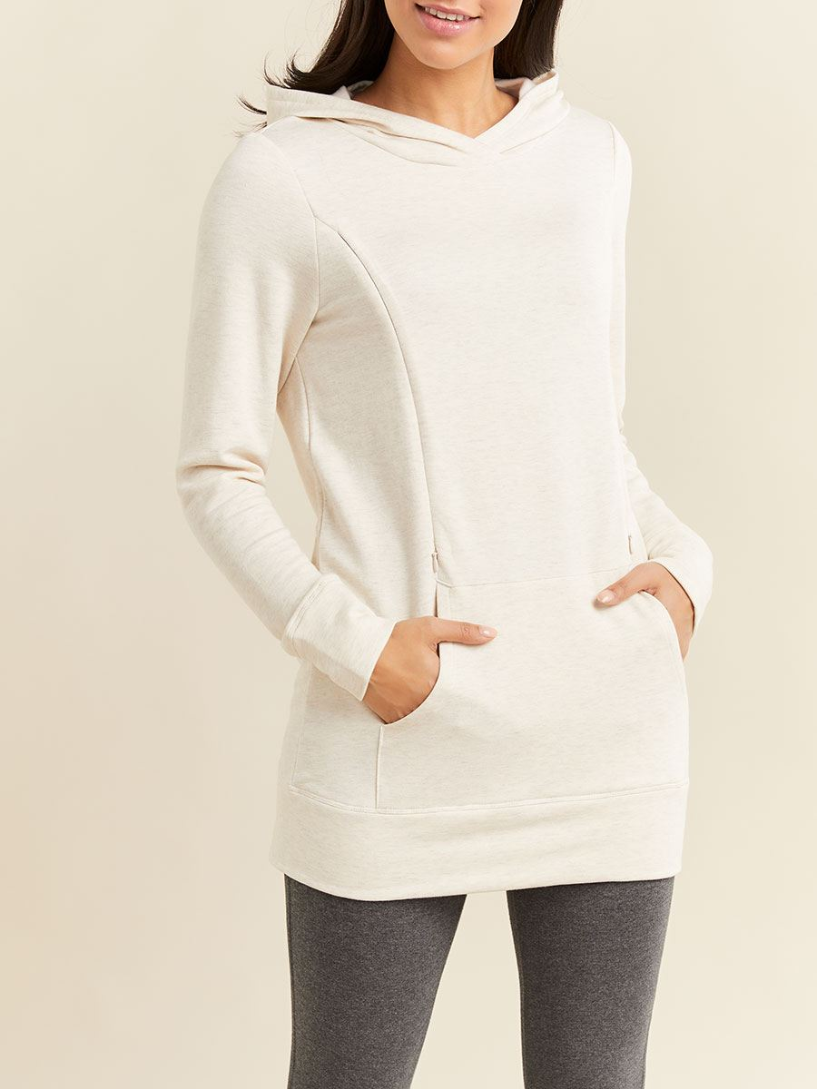 Long Sleeve Hooded Nursing & Maternity Top