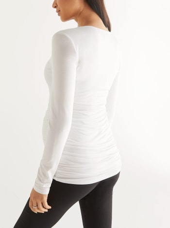 Stork & Babe - Ruched Long Sleeve Maternity Top