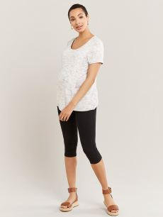 Black Capri Maternity Fitted Legging