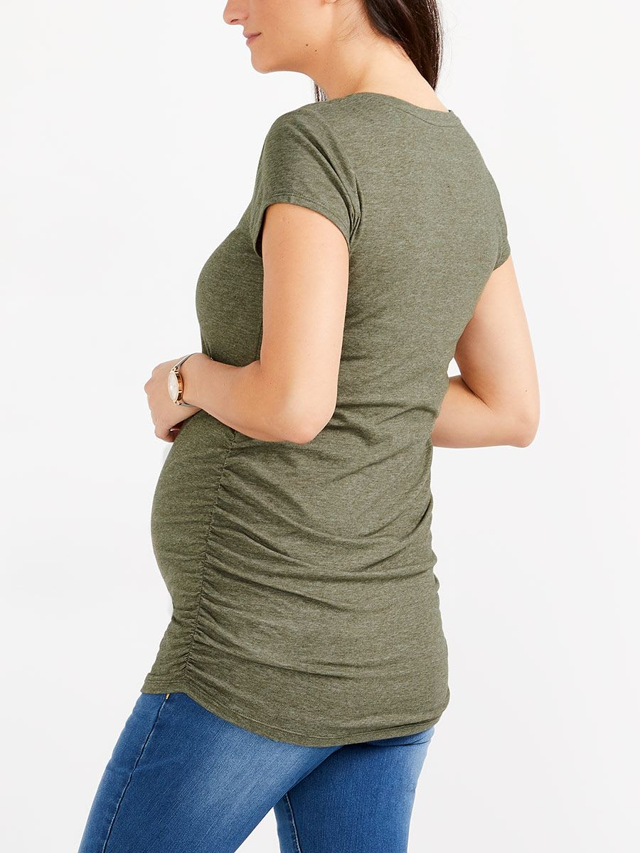 Rounded Neck Maternity T-Shirt