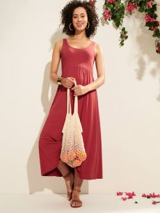 Sleeveless Maternity Midi Dress