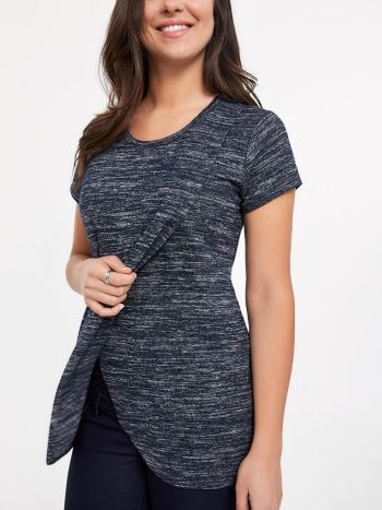 Short Sleeve Crossover Nursing Top