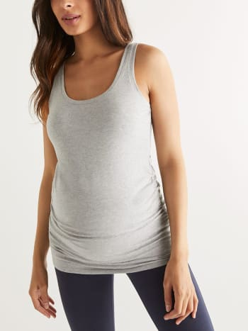 Ruched Reversible Cotton Maternity Cami