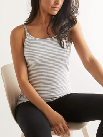 Cotton Striped Nursing Cami