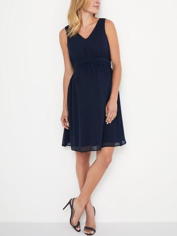 Stork & Babe - Solid Sleeveless Maternity Dress