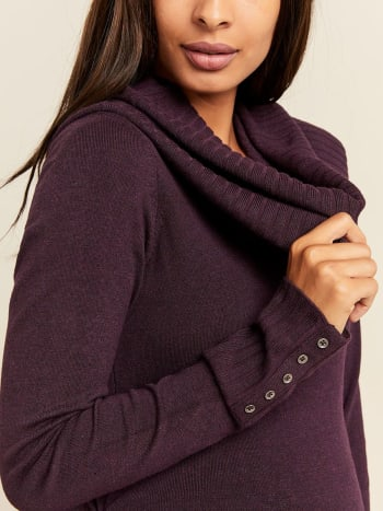 Stork & Babe - Cowl Neck Maternity Sweater