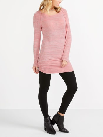 Long Sleeve Knit Nursing Tunic