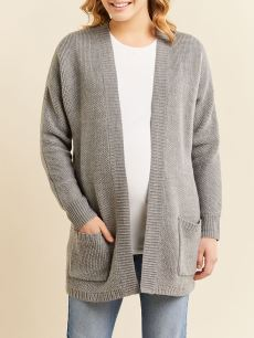 Long Sleeve Knit Maternity Cardigan