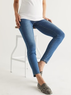 Medium Wash Super Skinny Maternity Jean - Tall