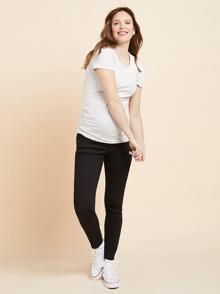 a0c2307b1bdf4 Black Slim Fit Skinny Maternity Jeans | Thyme Maternity