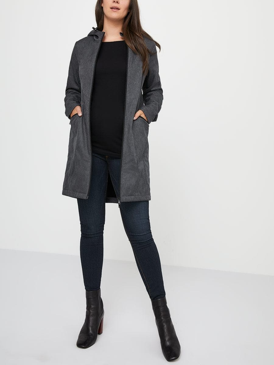 e1f08310fc8a Softshell Maternity Coat with Extender Panel | Thyme Maternity