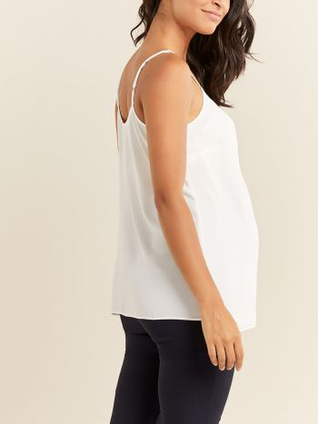 Solid Thin Strap Maternity Blouse
