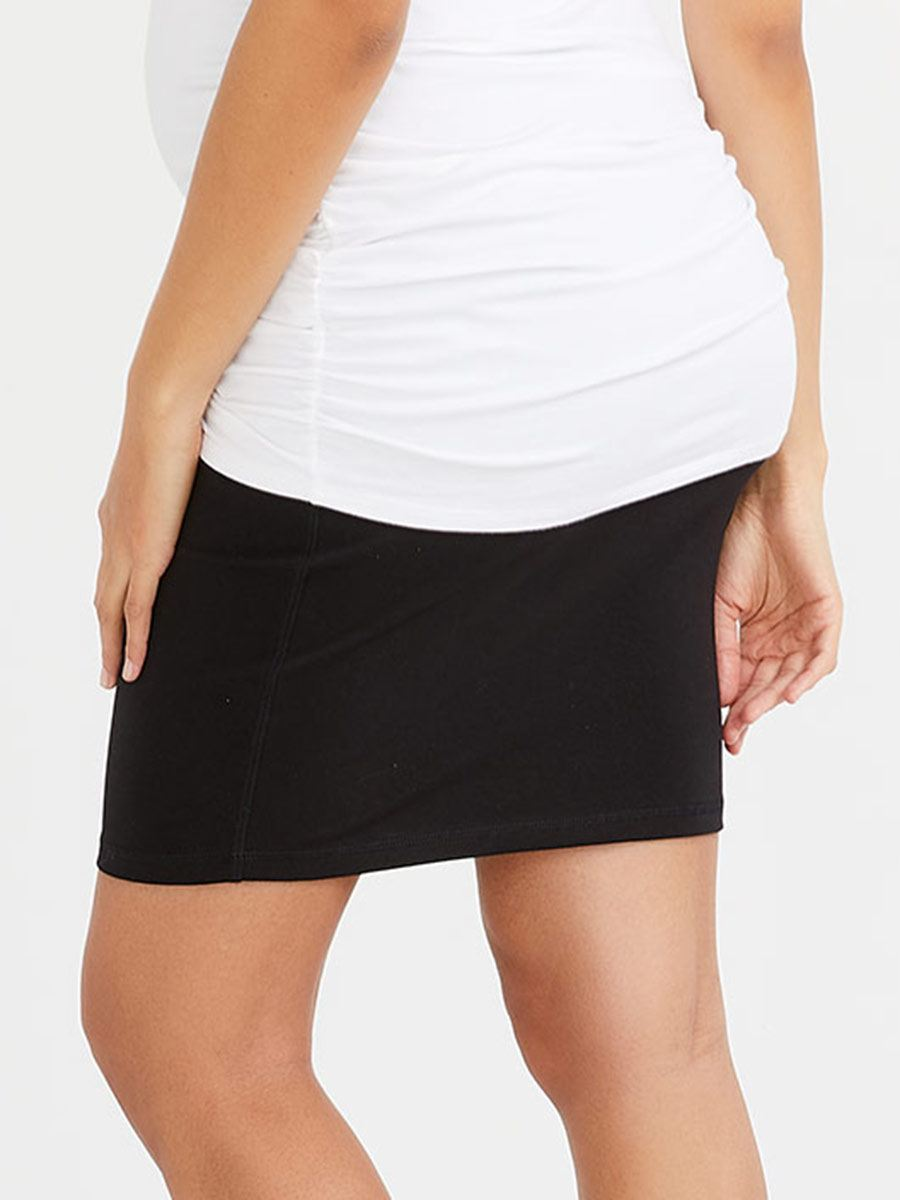 Solid Maternity Skirt