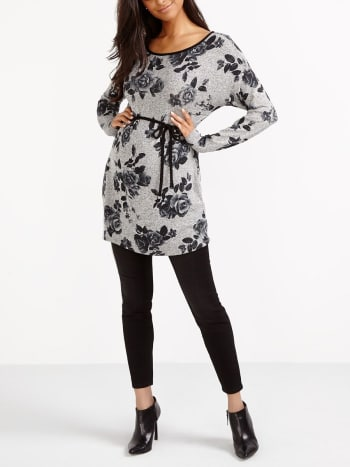 Stork & Babe - Floral Print Maternity Tunic