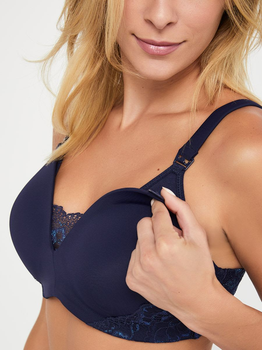 Full Coverage Nursing Bra with Lace