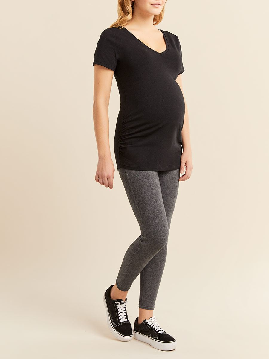 Ruched Short Sleeve Maternity T-Shirt