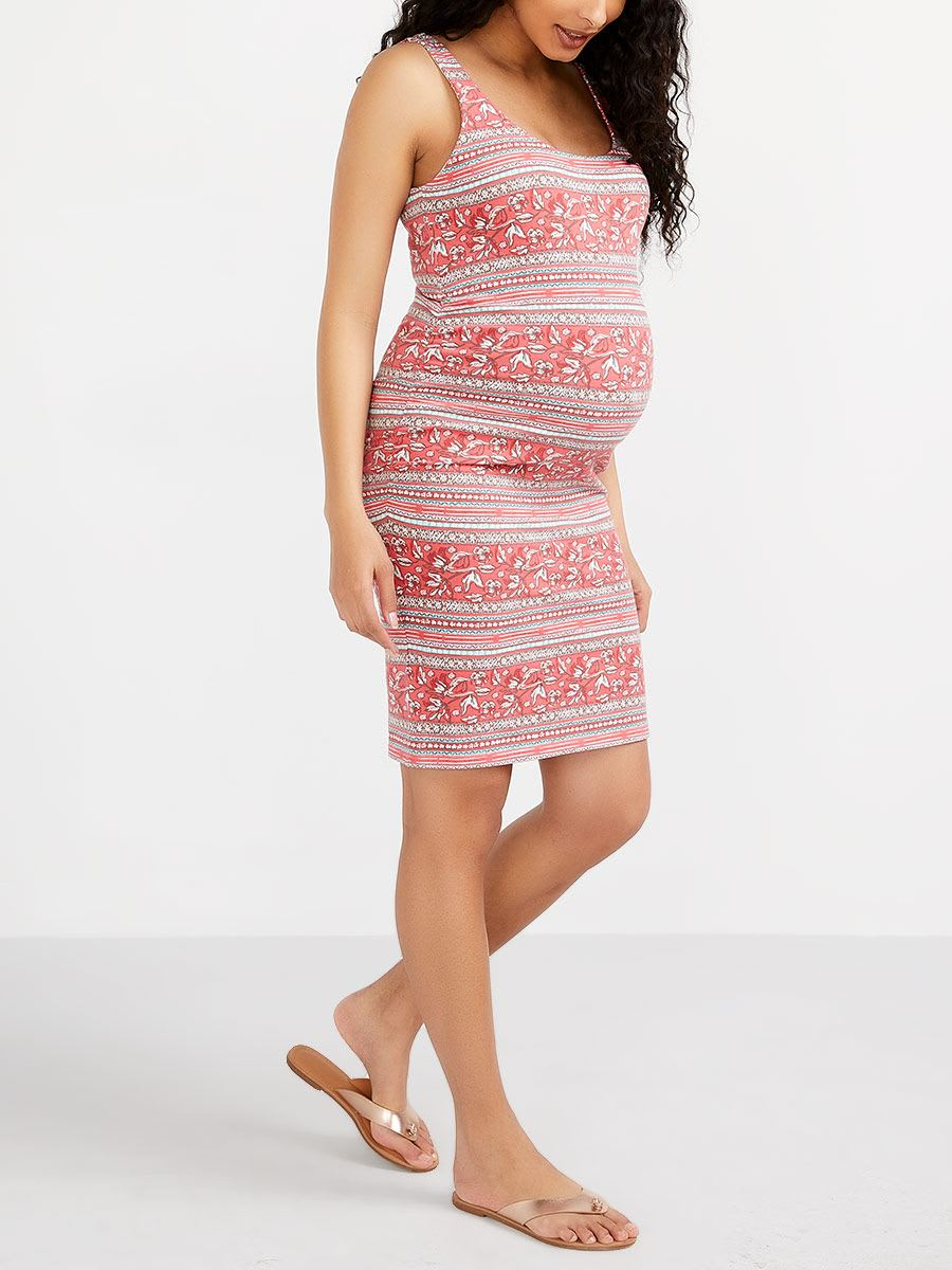 011e717b0d3c8 Printed Reversible Maternity Dress | Thyme Maternity