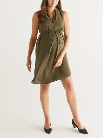 Stork & Babe - Pleated Maternity Dress