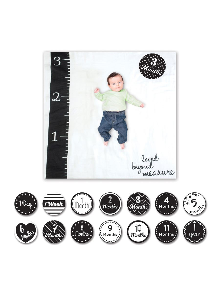 Lulujo - Cotton Baby Blanket and Card Set