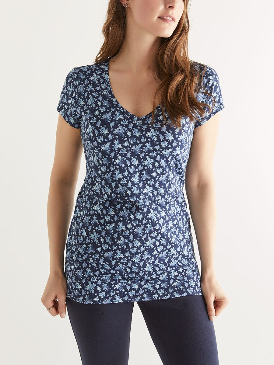 Cotton Cap Sleeve Nursing Top