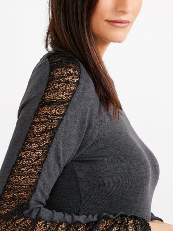 Stork & Babe - Long Sleeve Maternity Top with Lace