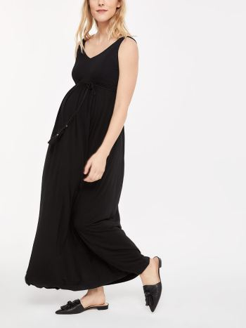 Maternity Maxi Dress with Belt