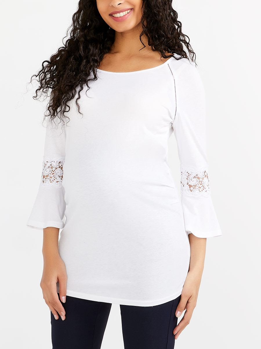 01a1244f277f3 Stork & Babe - Maternity Top with Lace   Thyme Maternity