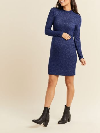 Stork & Babe - Long Sleeve Soft Touch Maternity Dress