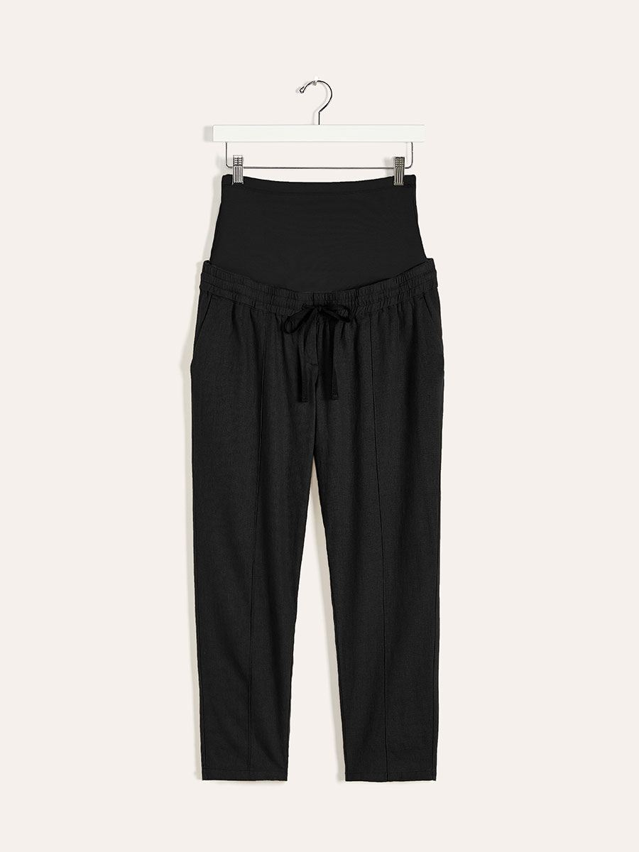 Maternity Pant with Pintuck Detail