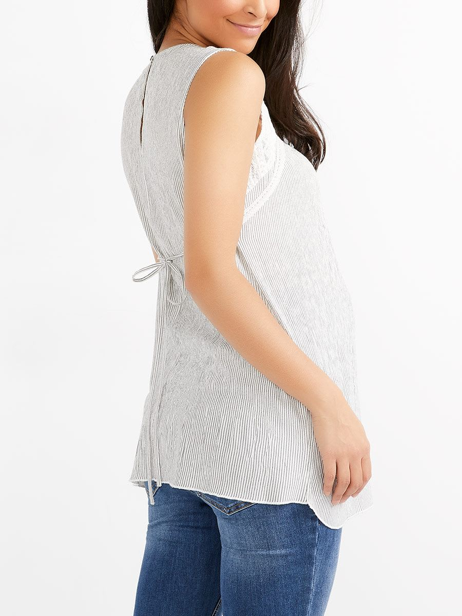 Maternity Blouse with Macrame
