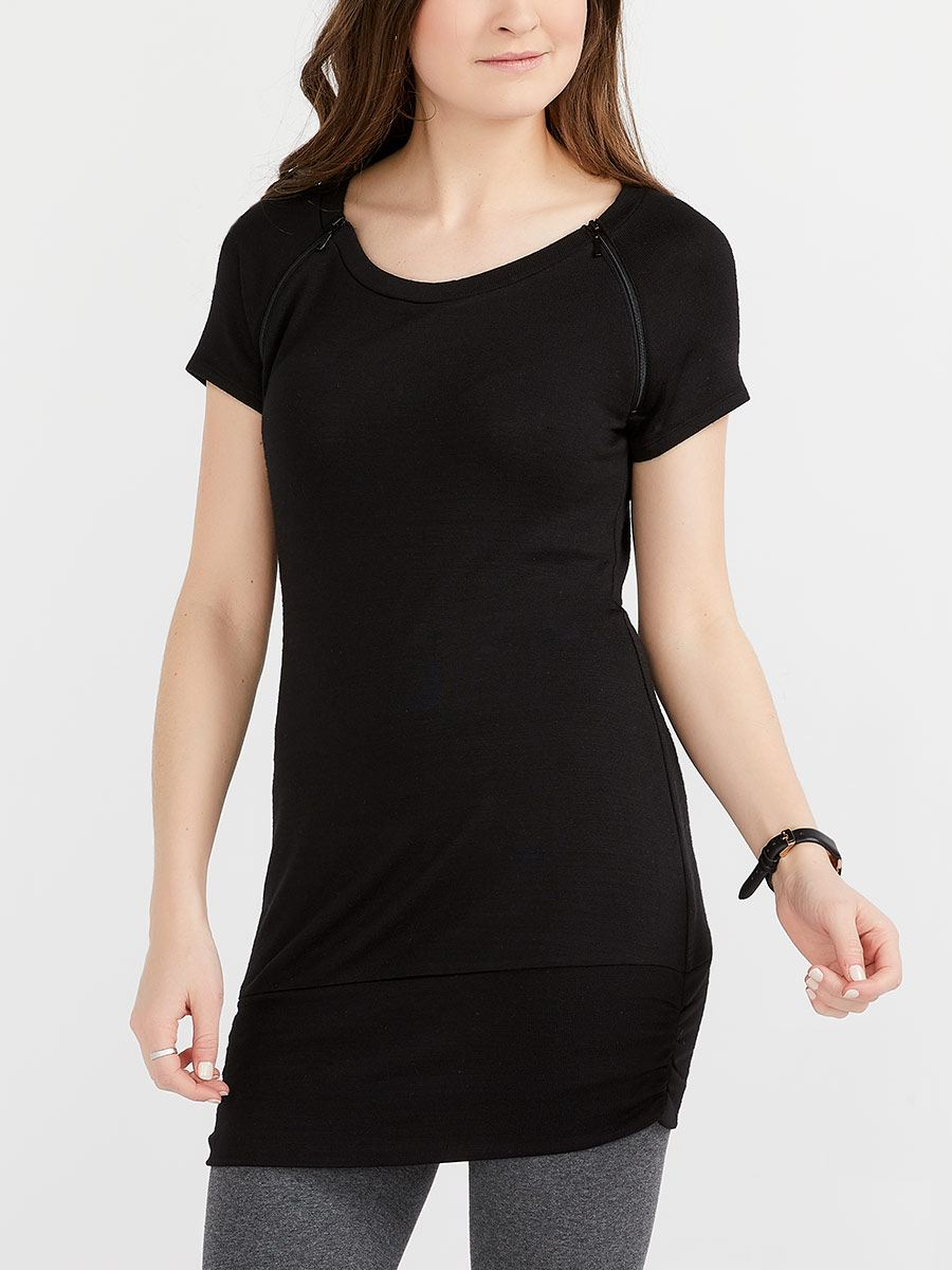 Nursing & Maternity Top with Cap Sleeves