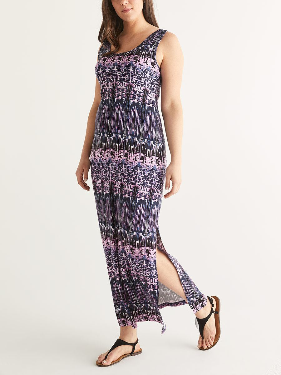 Printed Nursing Maxi Dress