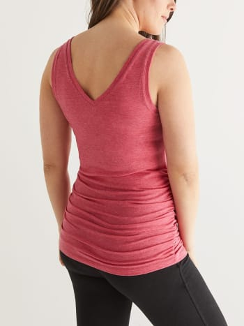 Ruched Maternity Tank Top