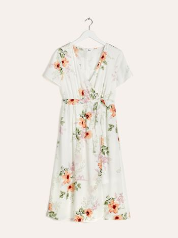 Midi Nursing & Maternity Dress with Floral Print