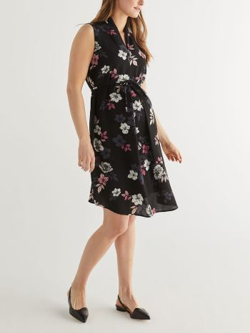 0ee55128af6854 Online exclusive colours. Stork & Babe - Sleeveless Box Pleat Maternity  Dress