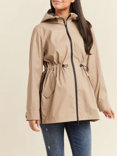 Hooded Maternity Rain Jacket