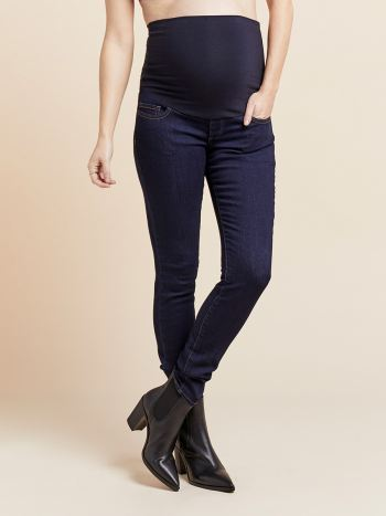 Dark Wash Super Skinny Maternity Jean