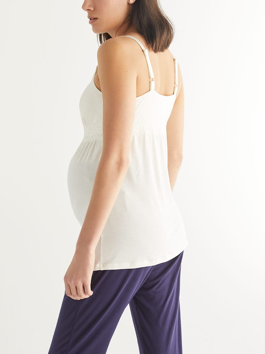 Nursing Pajama Cami with Lace