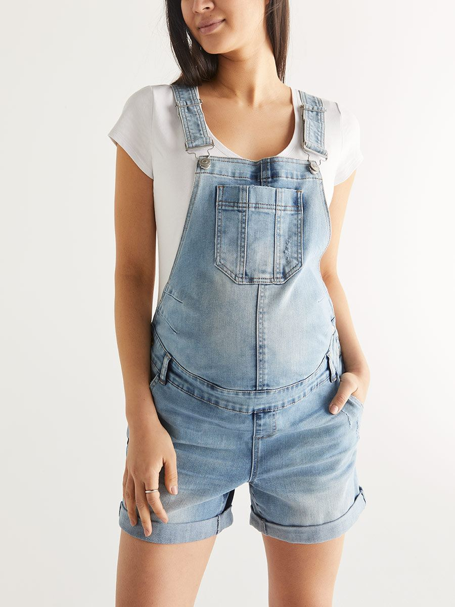 Maternity Denim Shortall