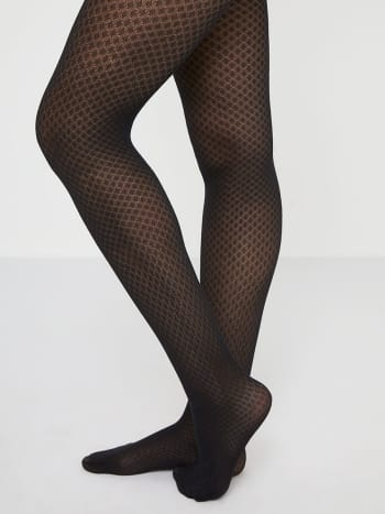 Black Argyle Maternity Tights