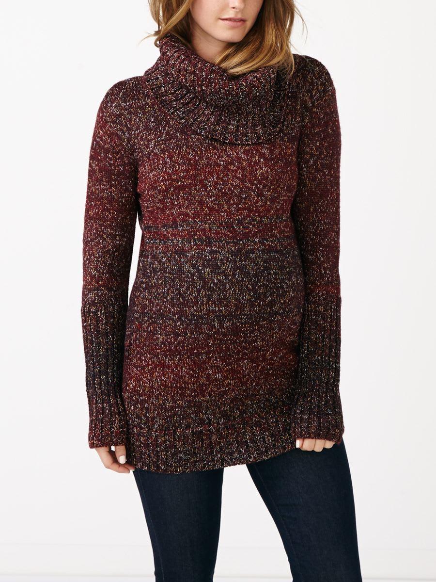 Long Sleeve Turtleneck Maternity Sweater