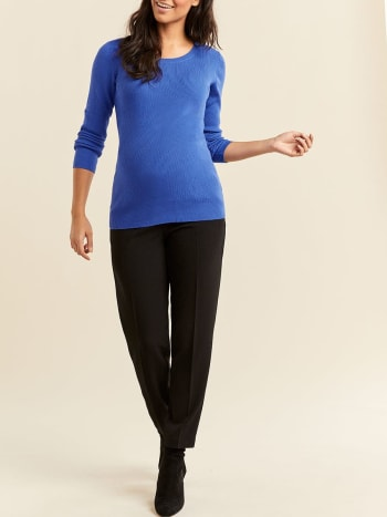 Stork & Babe - Long Sleeve Ribbed Maternity Sweater