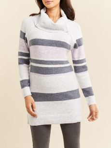 Striped Long Sleeve Nursing Sweater