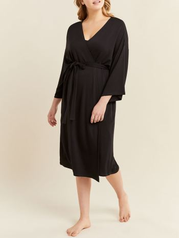 Black Maternity Delivery Gown