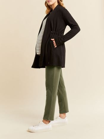 Long Sleeve Shawl Collar Maternity Cardigan