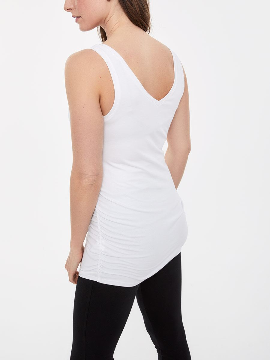 Ruched Two-Way Maternity Tank Top