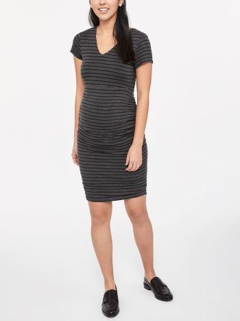 Stork & Babe - Printed Short Sleeve Maternity Dress