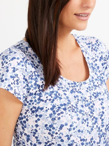 Floral Print Maternity T-Shirt