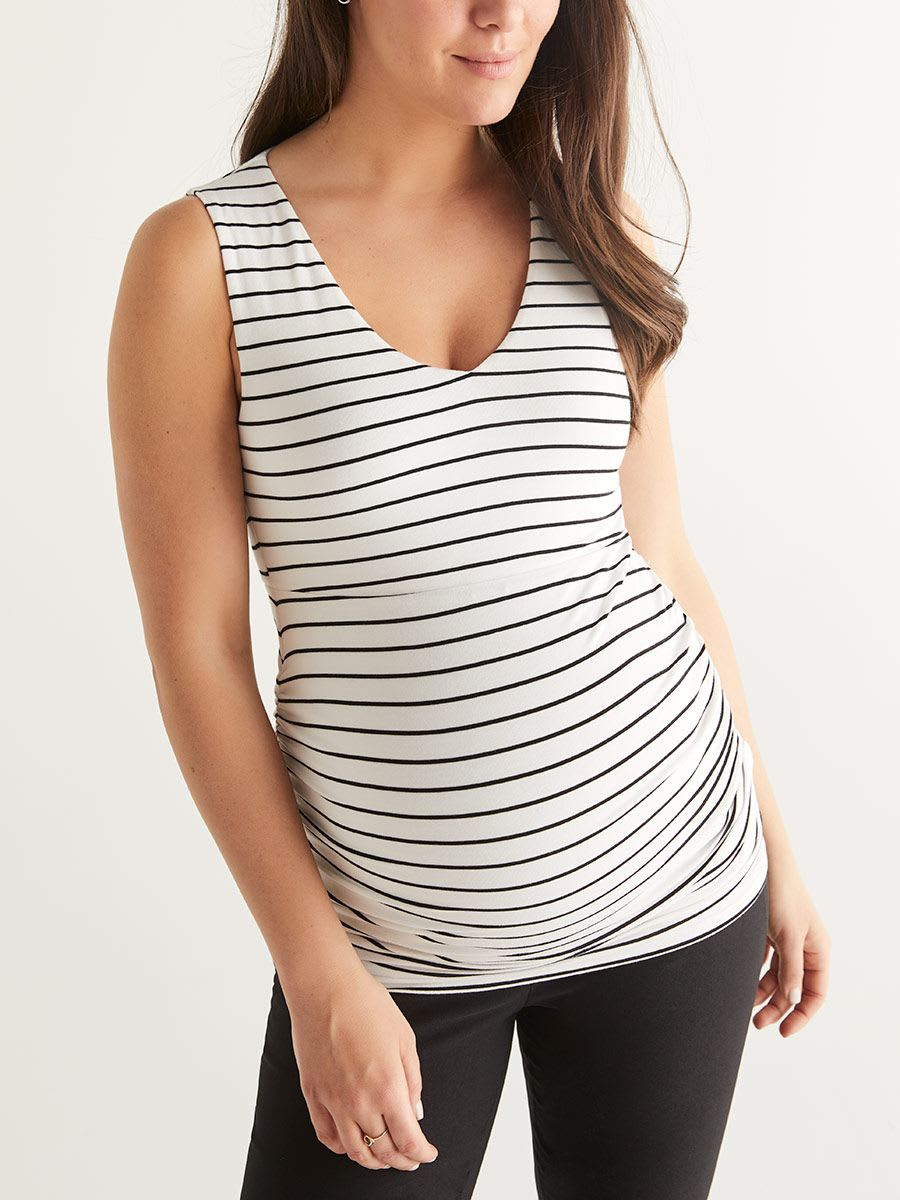 Stork & Babe - Printed Twisted Back Maternity Top